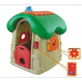 Domek plastikowy - zielony dach